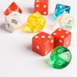 Multicolored Role Play Dice — Stock Photo