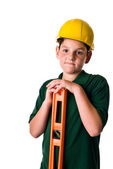 Young boy - future construction worker — Stock Photo
