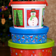 Christmas Holiday Cookie Containers — Stock Photo