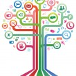 Stock Vector: Social network tree