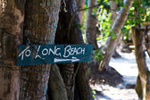 Plate long beach — Stock Photo