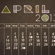 Vintage style April 2013 pencil hand drawn calendar design — Stock Photo