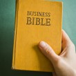 Vintage Business Bible with business commandments and rules — Stock Photo #23834443