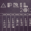 Royalty-Free Stock Photo: Vintage style April 2013 pencil hand drawn calendar design