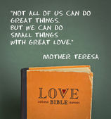 Love Bible with love commandments, metaphors and quotes — Stock Photo