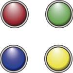 Botones de colores — Stock Vector #23213936