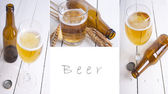 Photo composition of beer — Stock Photo