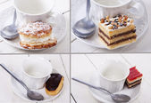 Cakes isolated — Stockfoto