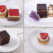 : Assorted cakes composition — Stock Photo