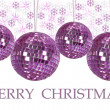 Stock Photo: Christmas ornaments with background