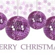 Christmas ornaments with background — Stock Photo