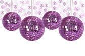 Christmas ornaments with background — Stock fotografie