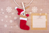Christmas ornaments with background — Foto Stock