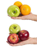 Hands with fruit — Stock Photo