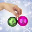 Christmas ornaments isolated — Stock Photo