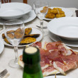 Ham on table — Stock Photo #38462975