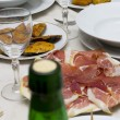Ham on table — Stock Photo #38463049