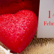 Red heart with card — Stock Photo #38603719