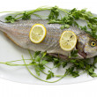 Foto Stock: Fish on plate
