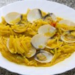 Foto de Stock  : Spaghetti with clams