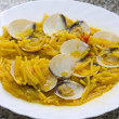 ストック写真: Spaghetti with clams