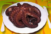 Octopus on the plate — ストック写真