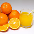 Stock Photo: Oranges isolated