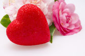 Valentine card with heart — Stock Photo