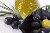 Olivy na pozadí — Stock fotografie