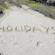 Lettering on the beach — Stock Photo