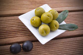 Olives with background — Stockfoto