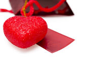 Valentine's card with heart — Stock Photo