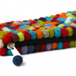 Purse from felt ball - Stock Photo