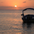 Sunset over Roatan Honduras — Stock Photo