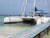 Catamaran on the beach - Cuba — Stock Photo