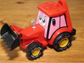Toy Earthmover — Stock Photo