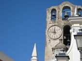 Old and new church, Amalfi Italy — Stock Photo