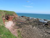 Cliffs at Seaside Arbroath Scotland — Stock Photo