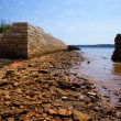 Ruins of ancient sea port in Medulin — ストック写真