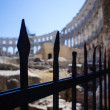 Boundary of Roman amphitheater in Pula — Stock Photo