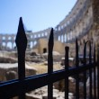 Boundary of Roman amphitheater in Pula — Stockfoto