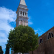 belltower of st. euphimia church in rovinj — Stock Photo