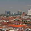 Vienna: old and new. The roofs — Stock Photo