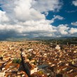 Roofs of Florence and Santa Croce church — Stock Photo