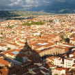 Stock Photo: Roofs of Florence with the Dome's shadow