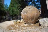 Ancient roman vase on the street of Pula — Stock Photo
