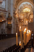 Candles in the church — Stock Photo