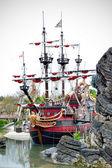 Boat of pirates. — Stock Photo