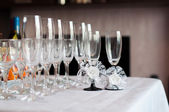 Glasses on a table — Stock Photo