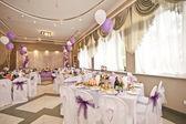 Wedding hall with spheres — Stock Photo